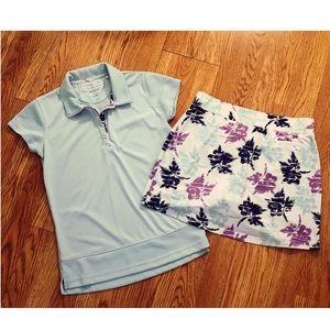 Pebble Beach Seafoam Collared Shirt Size Small
